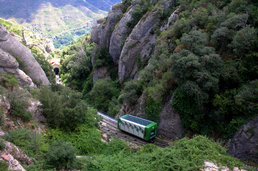 funicular railway montserrat spain