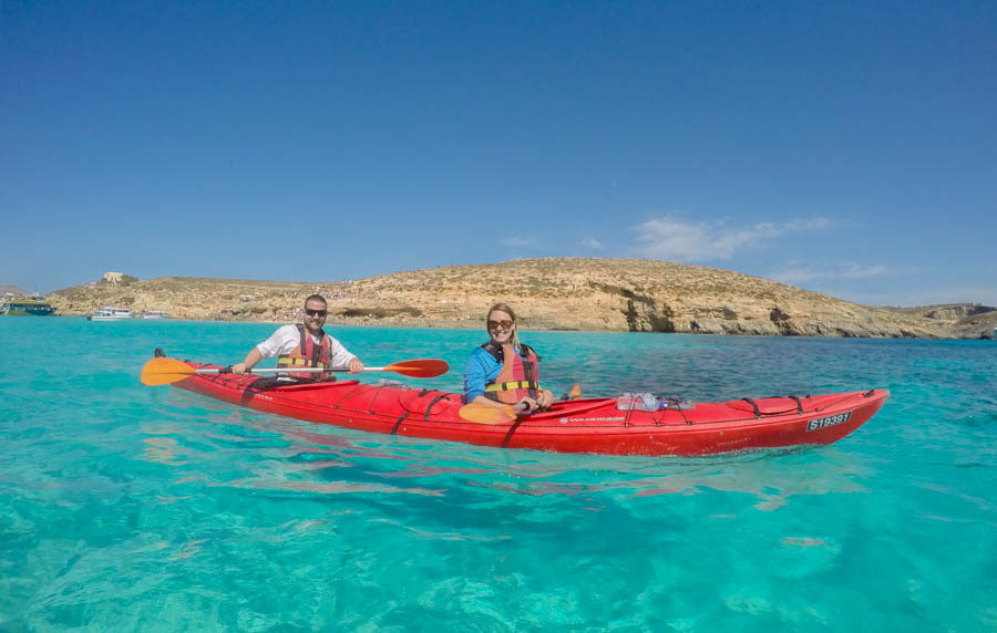 kayaking the blue lagoon comino island malta