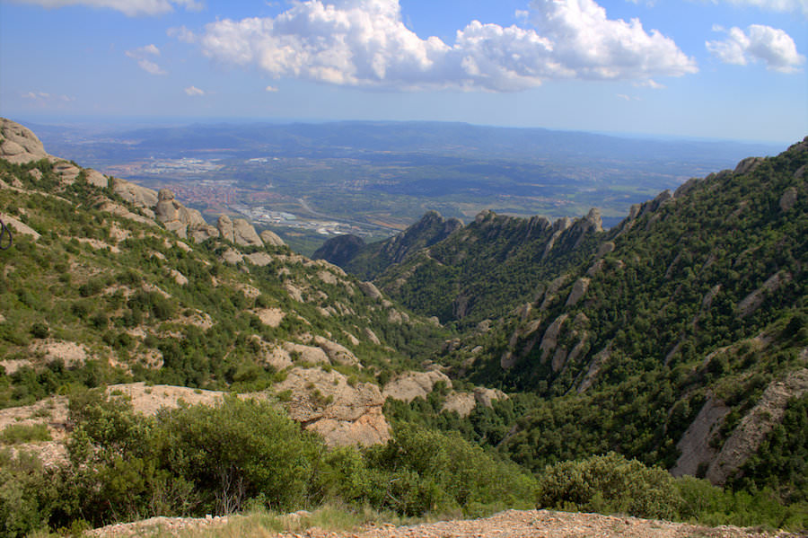 panoramic views montserrat spain