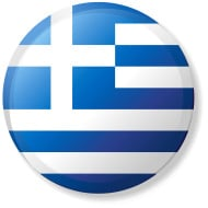 Greece Circle Flag