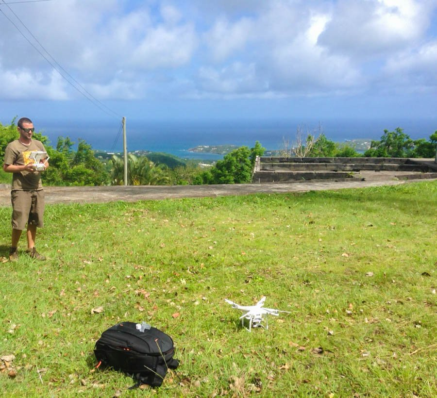 travelling with a drone to grenada