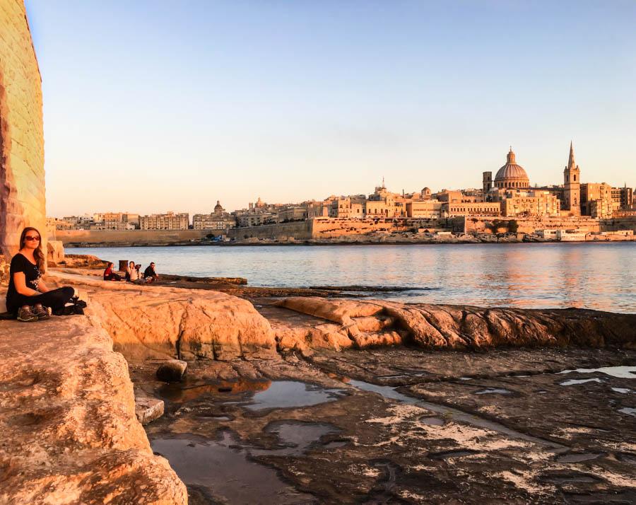 travel to malta sunset sliema