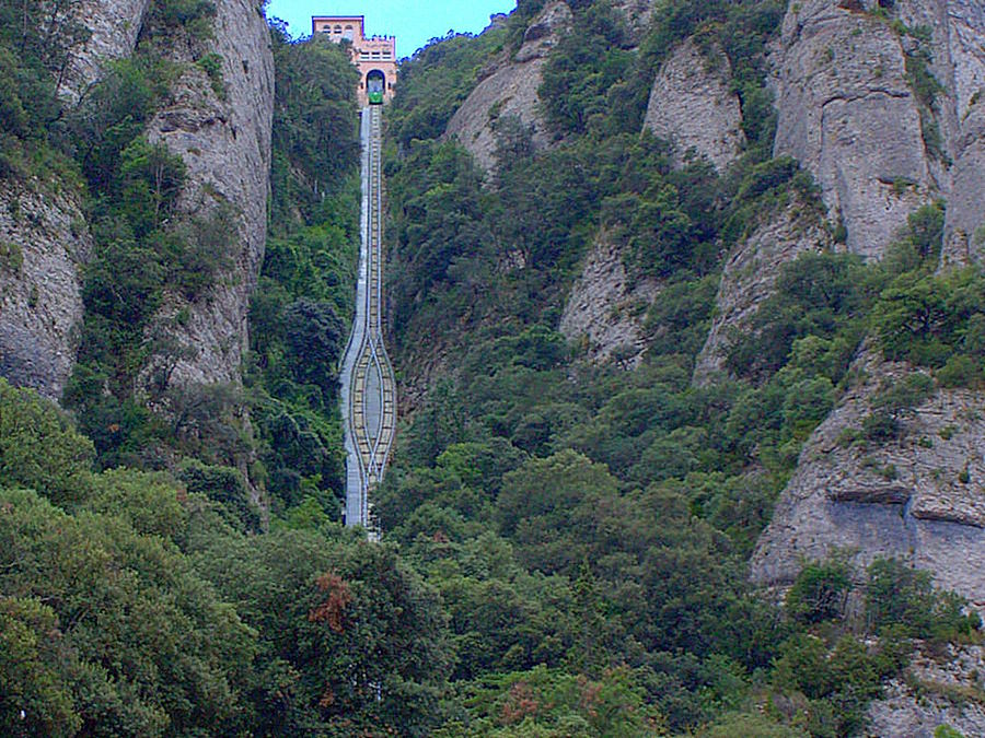 vertical funicular railway
