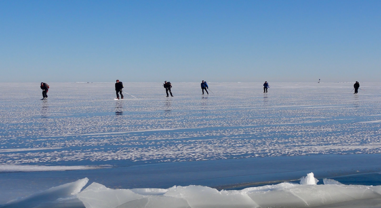 Ice-skating on the Baltic Sea, Finland