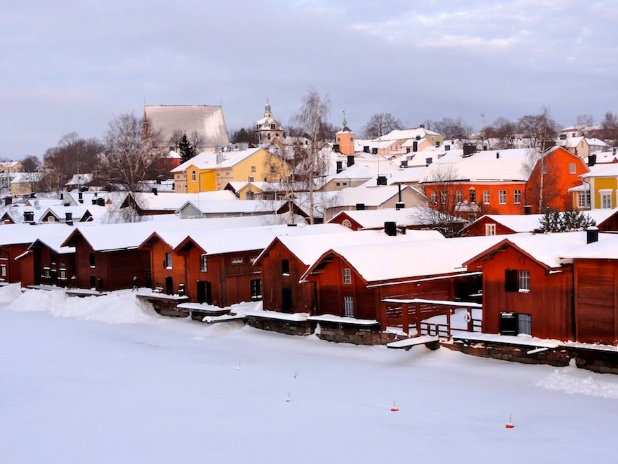 Porvoo in winter, Finland