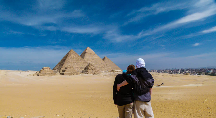 backpacking in egypt