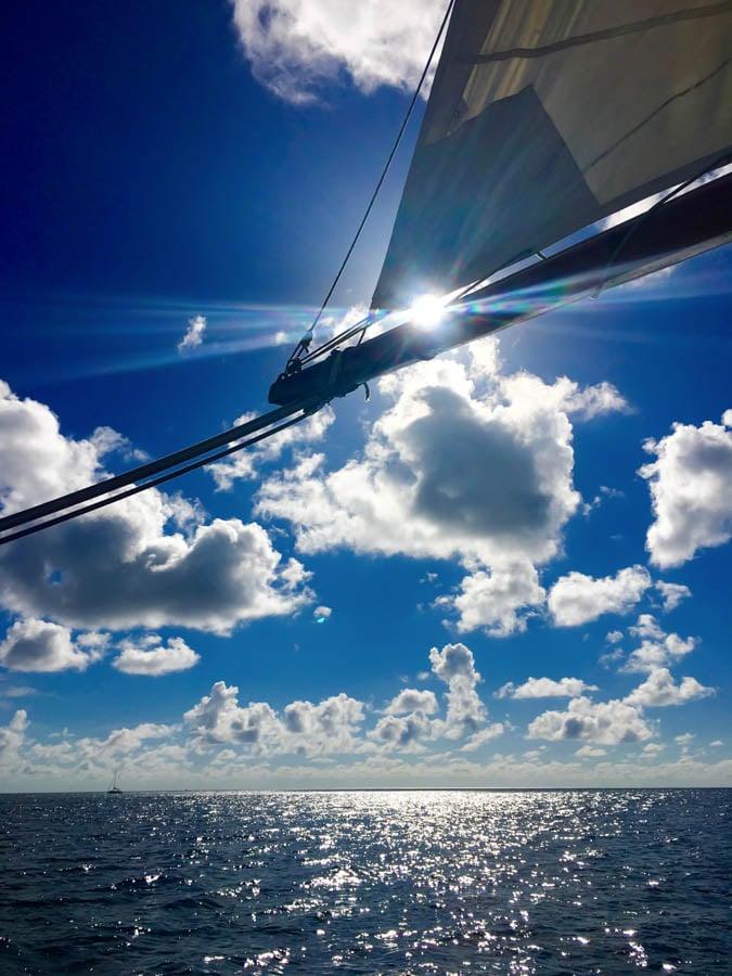 sailing aboard the savvy boat in grenada