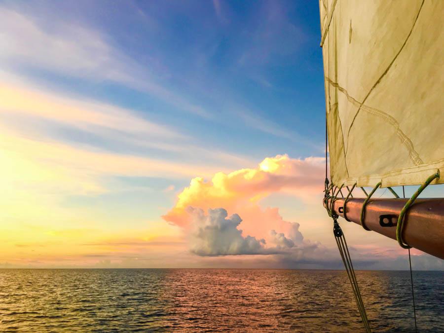 sunset sail in grenada