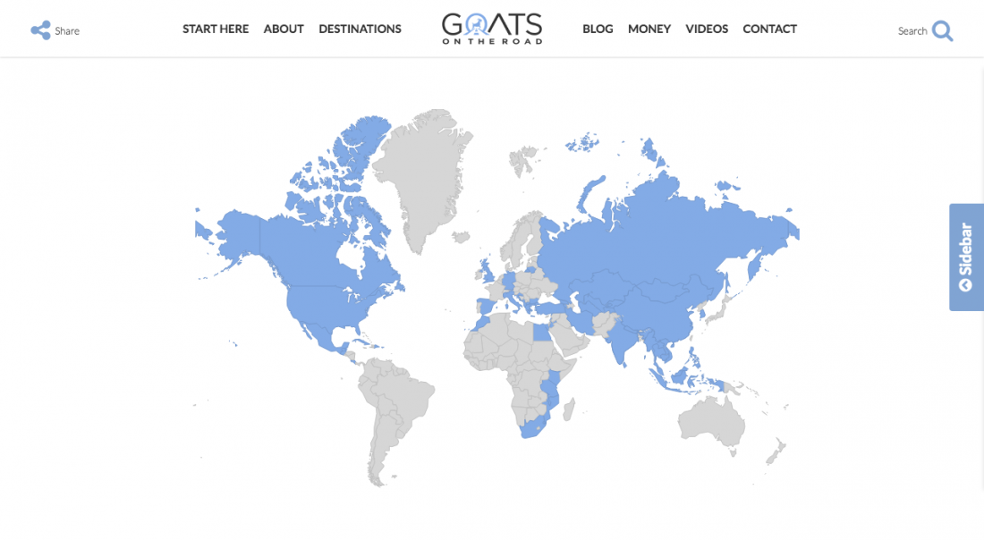 new blog design destinations page