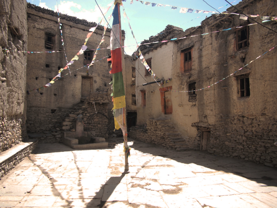 The Old Town of Kagbeni in Nepal