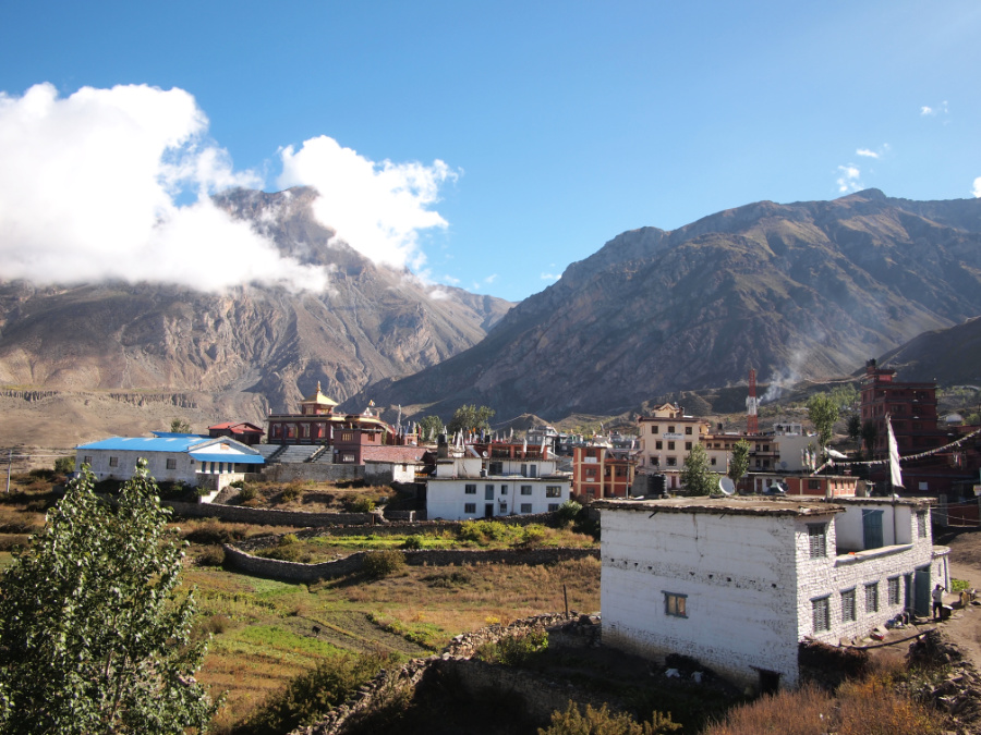 The Village of Muktinath on the Annapurna Circuit in Nepal