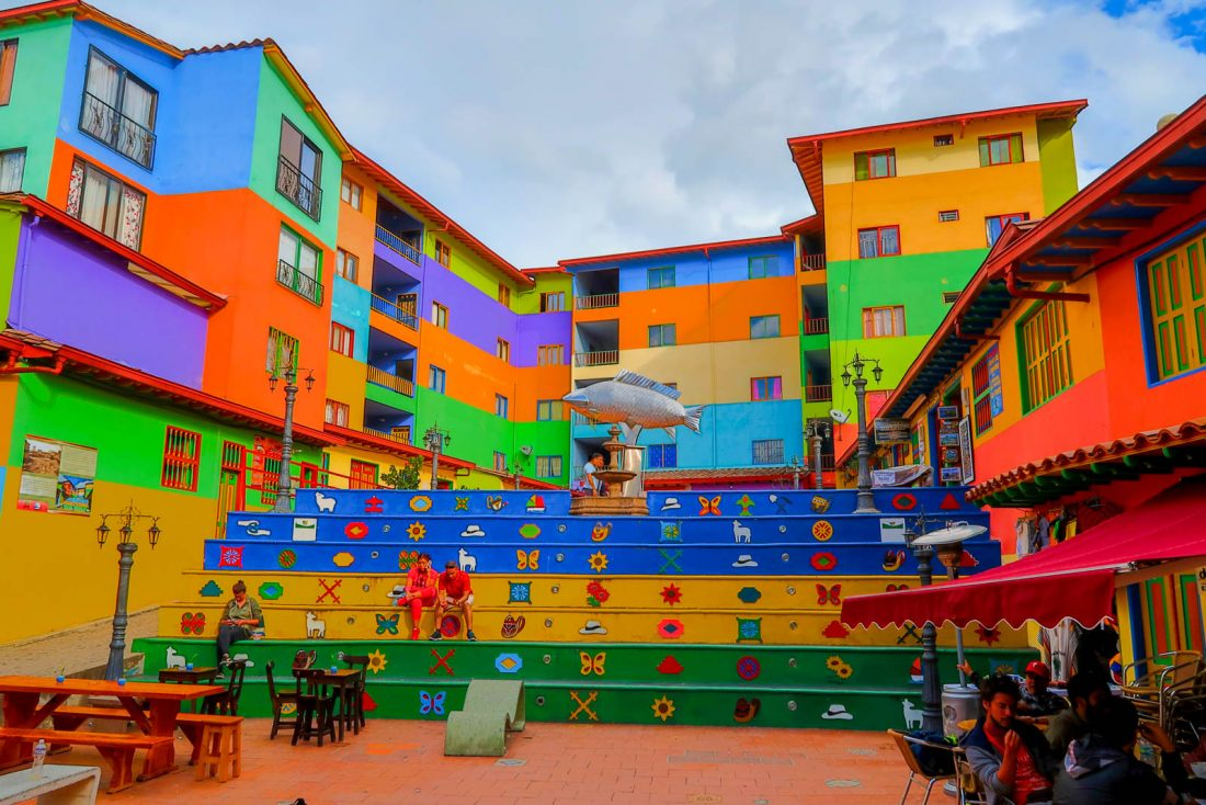 colourful town of guatape, a day trip from medellin colombia