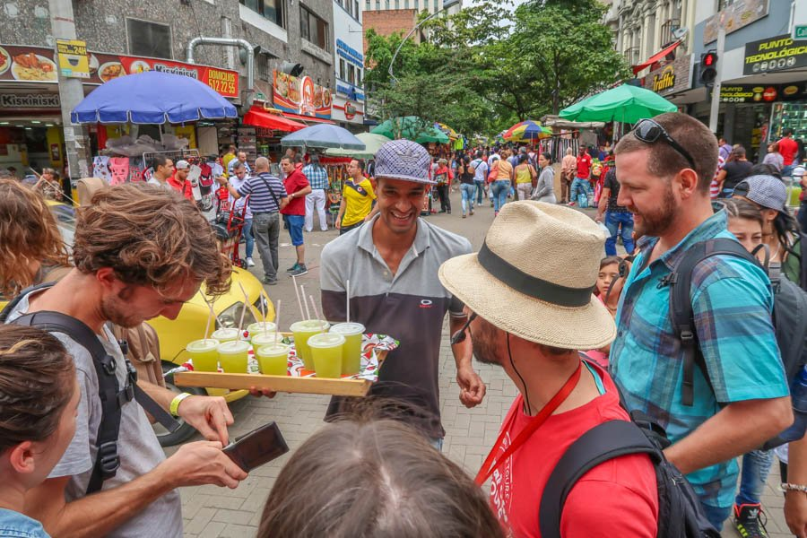 travel colombia guide. walking tour in medellin