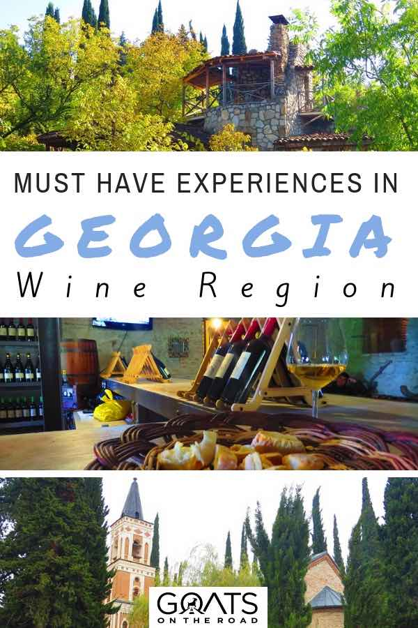 Vineyards with text overlay Must-Have Experiences in Georgia Wine Region