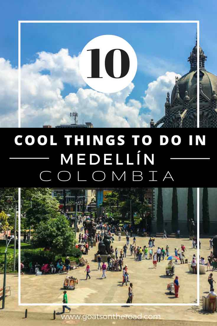 Iglesia de La Candelaria with text overlay 10 Cool Things To Do In Medellin Colombia