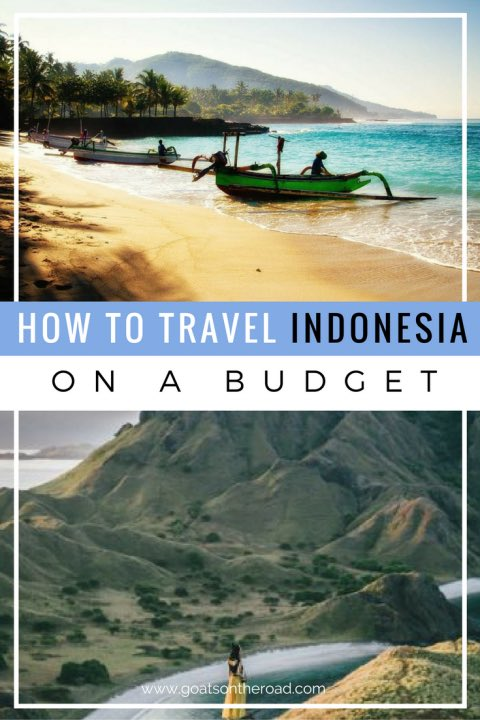Indonesian beaches with text overlay How The Travel Indonesia On A Budget