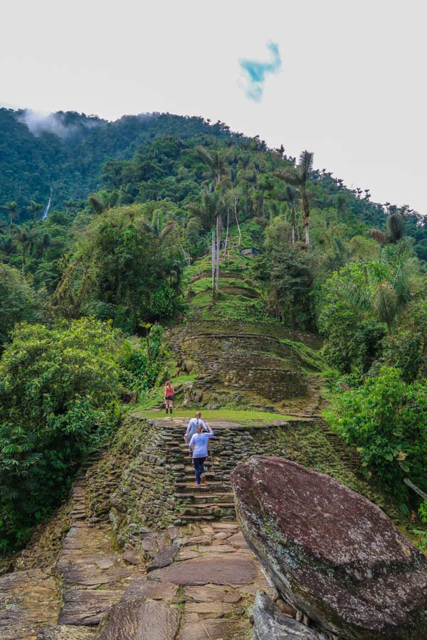hiking to the lost city in colombia