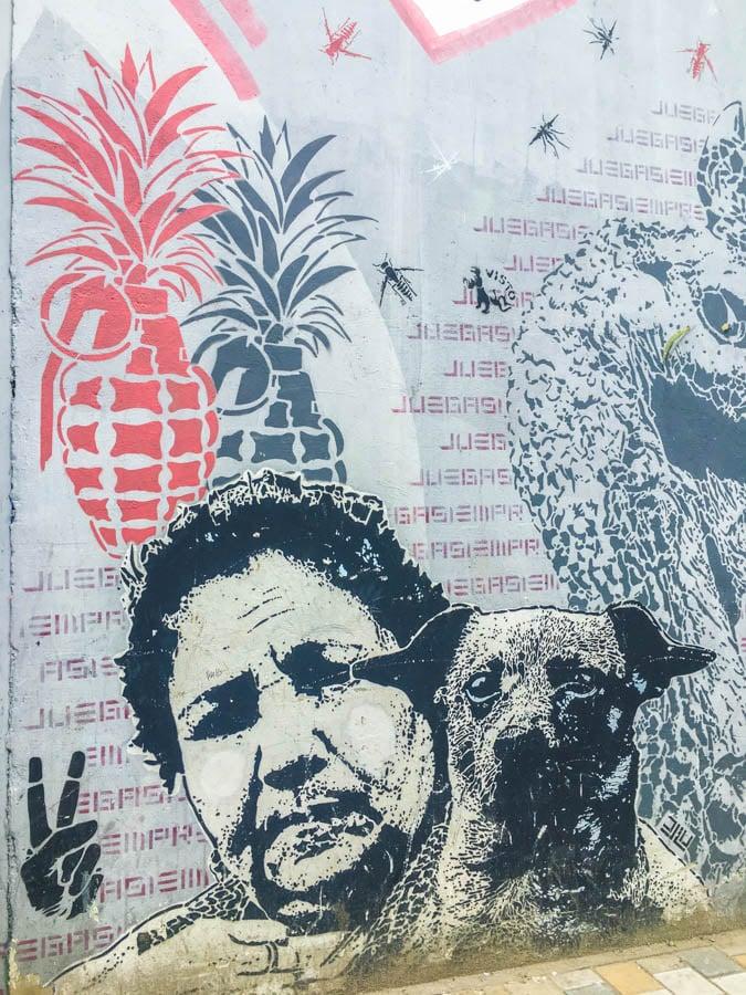 travel to bogota colombia grafitti tour