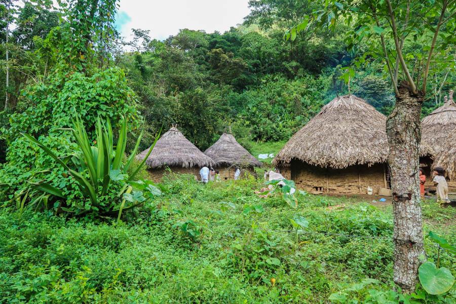 travel the ciudad perdida in colombia kogui village