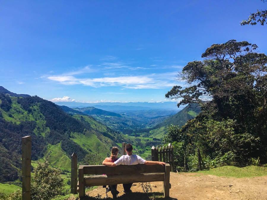 hiking the valle de cocora in salento colombia