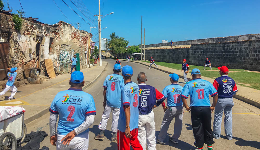 Cartagena Travel Baseball Game On Street