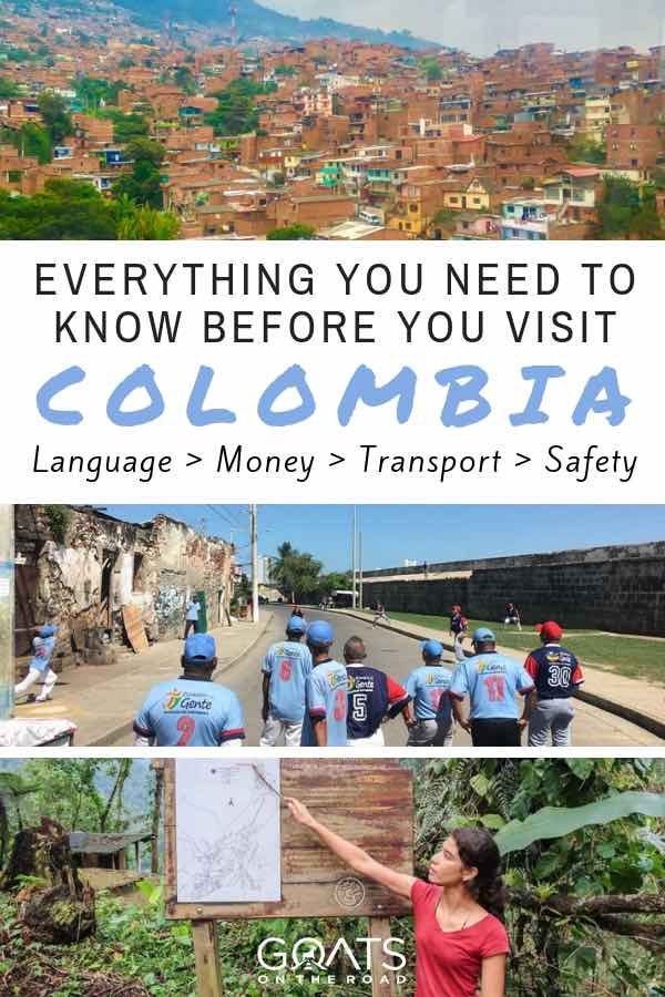 Best places in Colombia with text overlay Everything You Need To Know Before You Visit Colombia