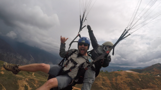 Things to do in San Gil Colombia paragliding