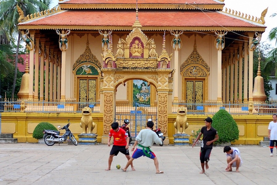 cambodia temple football