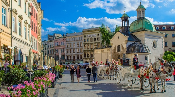 the square in old town krakow
