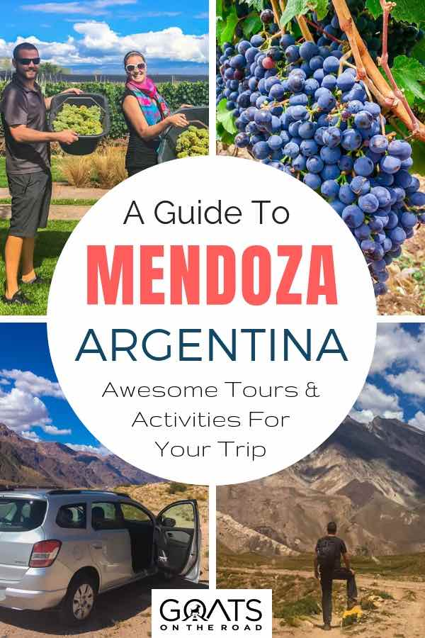 Wineries with text overlay A Guide To Mendoza Argentina