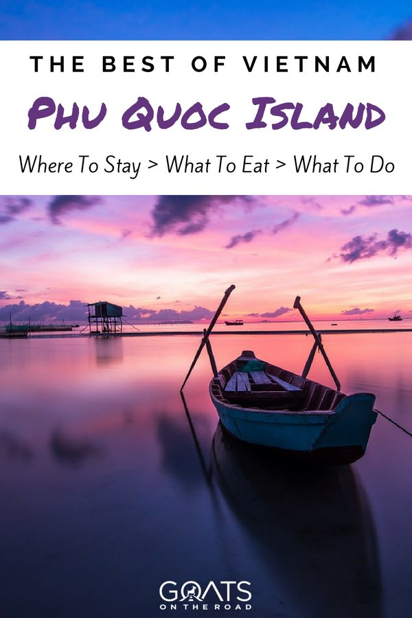 Sunrise on Phu Quoc Island with text overlay The Best of Vietnam