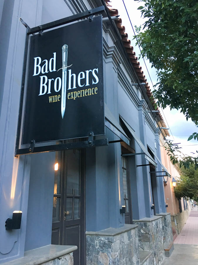 travel to cafayate argentina drink wine at bad brothers