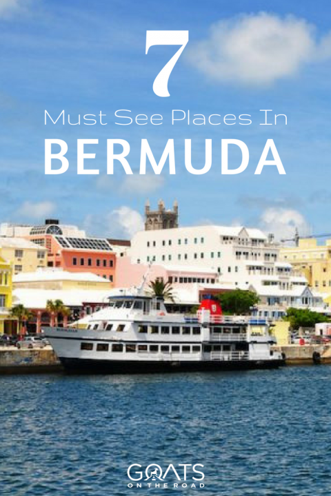 bermuda town and ferry with text overlay