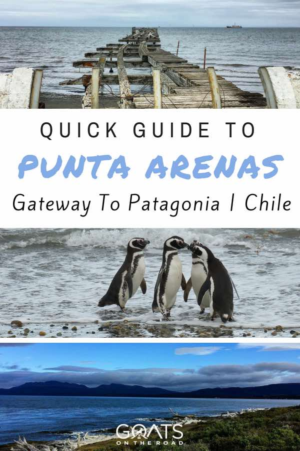 Punta Arenas beach with text overlay Quick Guide To Punta Arenas