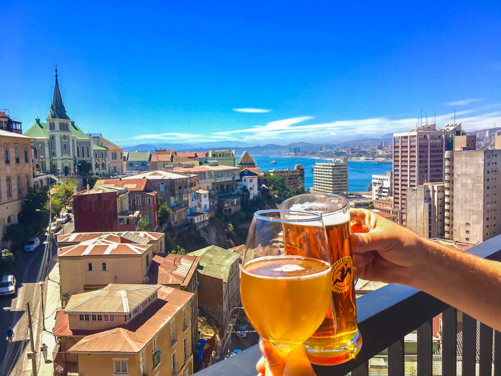 Valparaiso Chile Travel Drink With a View