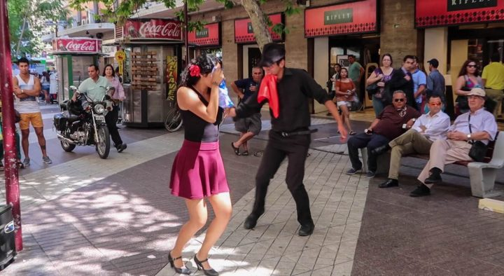 dancing on the streets of santiago chile