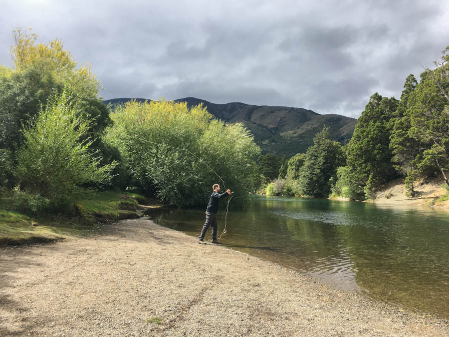fishing in the lake district of argentina