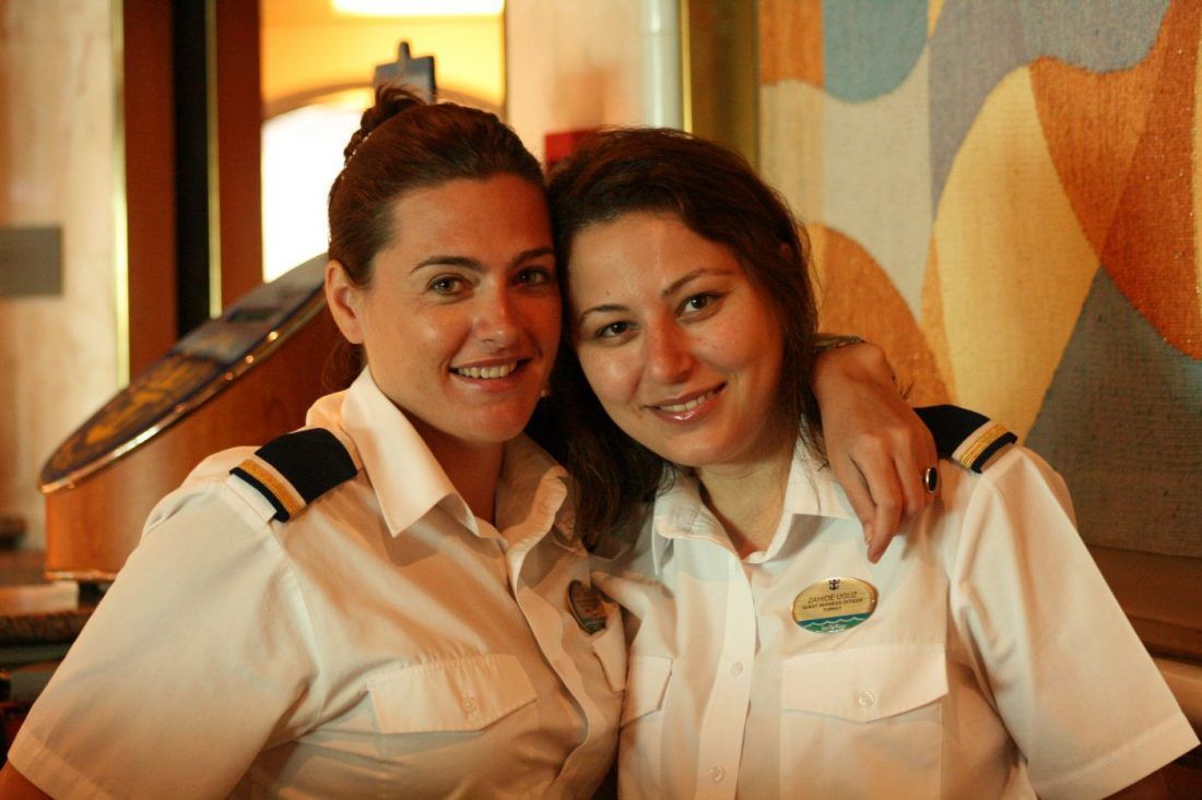 making money for travel and making friends while working on a cruise ship