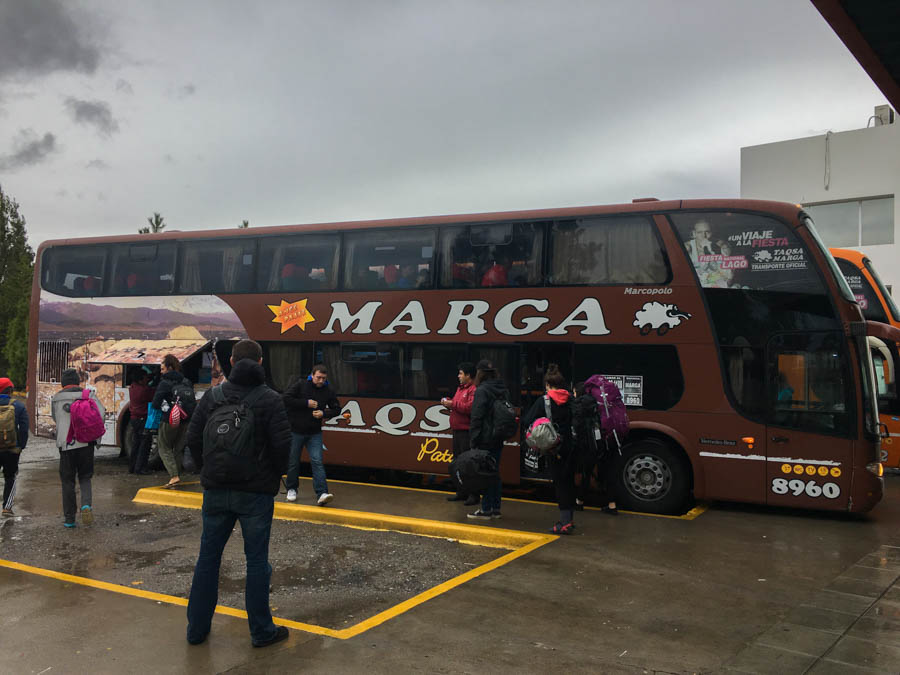 travel from el chalten to bariloche by bus