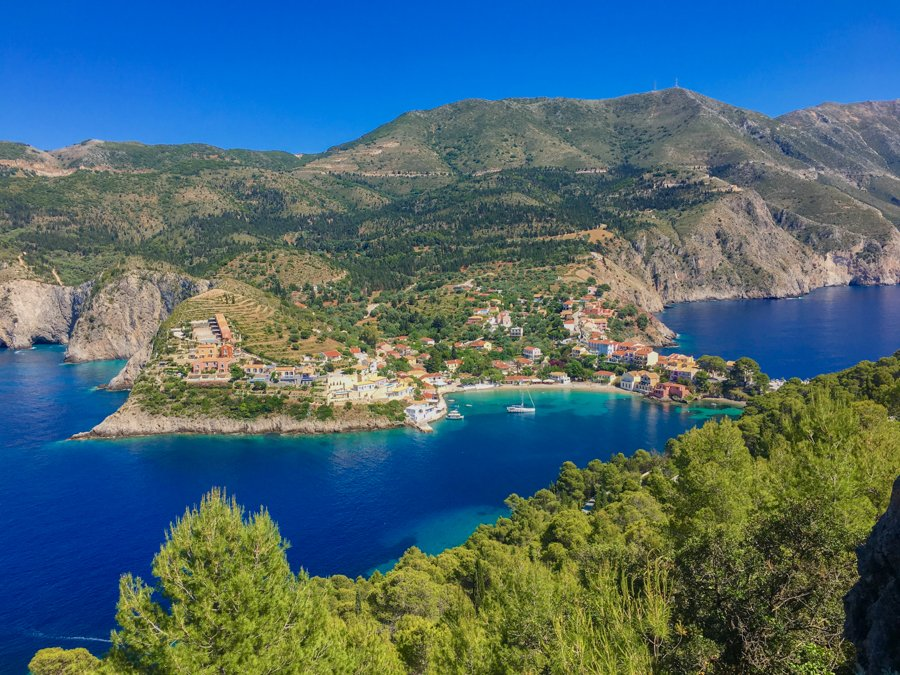 travel to kefalonia greece visit assos