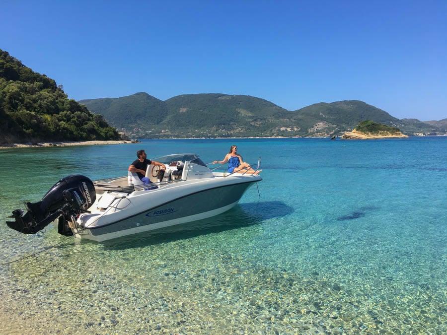 speedboat zakynthos greece