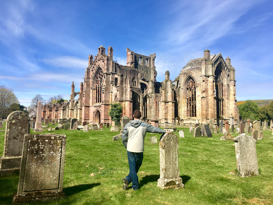 travel to scotland visit melrose abby