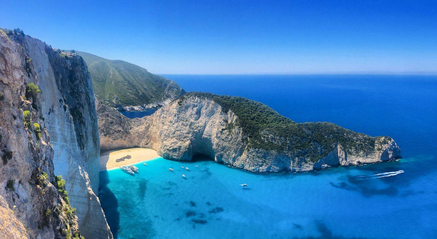 travel to zakynthos shipwreck beach