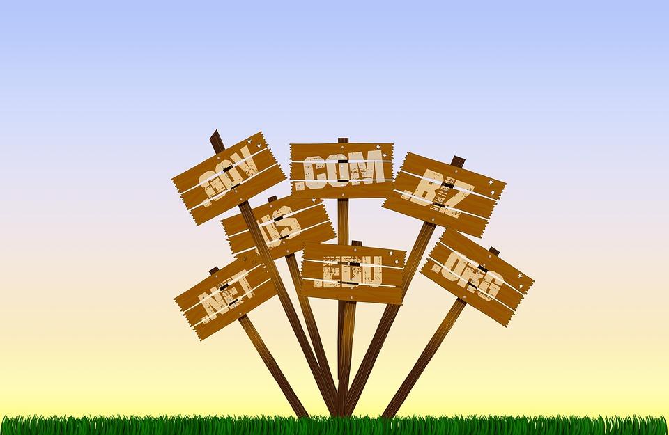blog name ideas and Blog name inspiration - suffixes of domain names .com .biz .gov etc.
