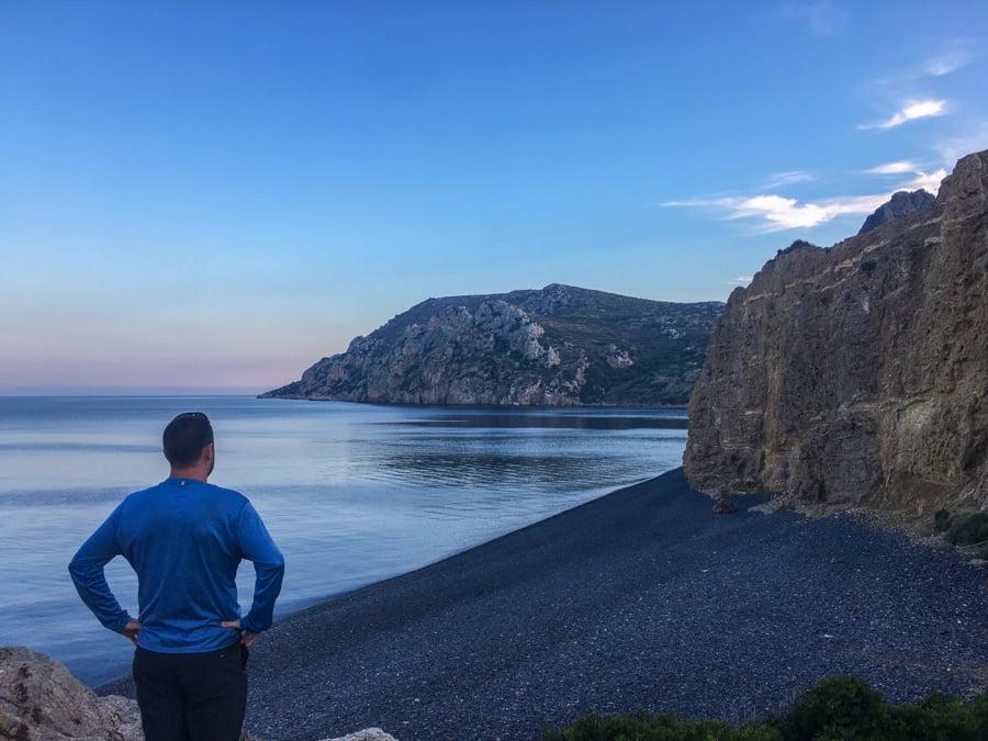 travel to chios greece An evening stroll to Emporios Mavros Gialos beach
