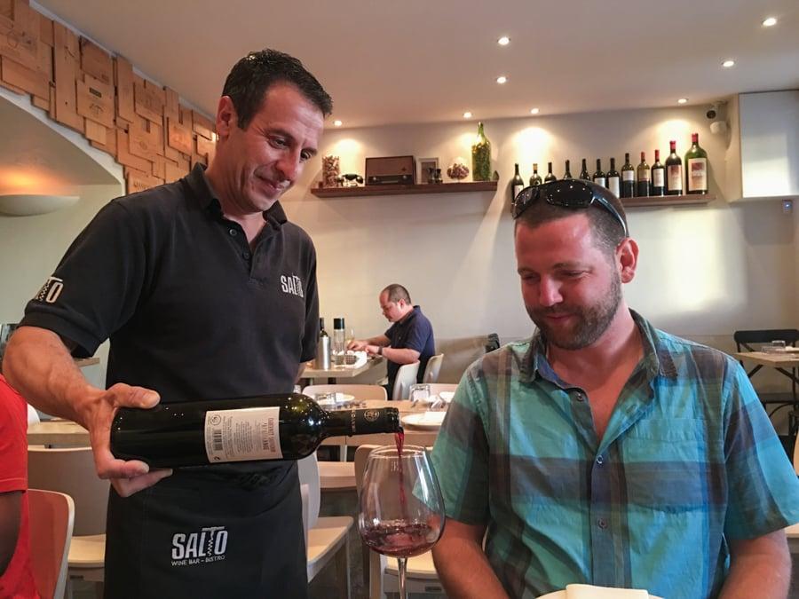 travel to corfu greece where to eat salto wine bar