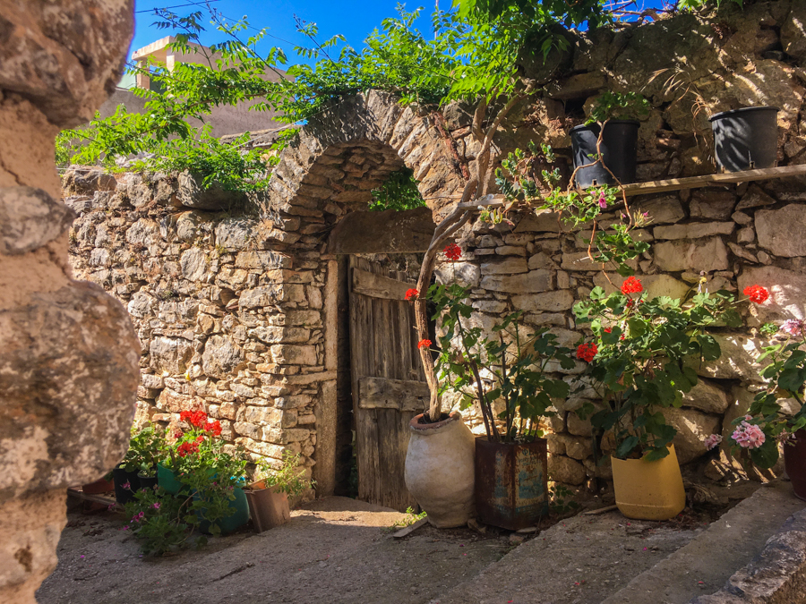 medieval village of mesta chios greece
