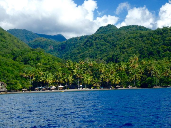 St Lucia Beaches Anse Chastanet beach on the west coast of St Lucia