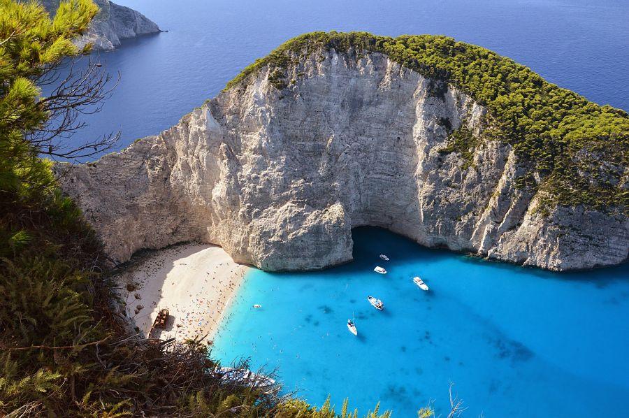 best beaches in greece-navagio-beach-bay-shipwreck-cove