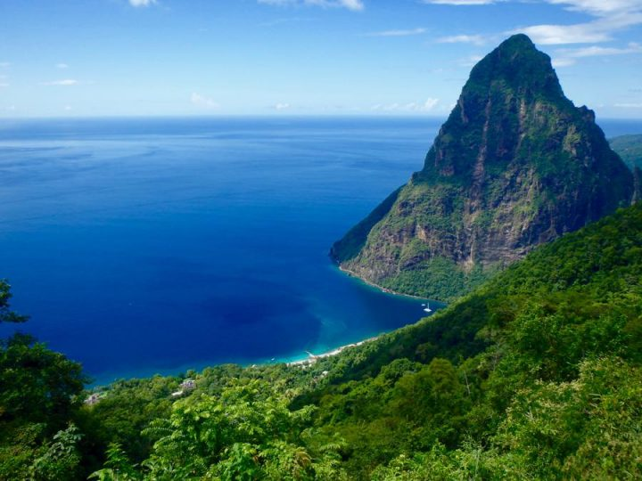 St Lucia Beaches Sugar Beach And The Pe Piton In
